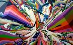 crash delight, 150x240 cm, 2-teilig, Acryl auf Leinwand, 2013