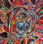 Emmission, 160x160 cm, Acryl auf Leinwand,2005