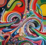 Let it run, 130x130cm, Acryl auf Leinwand, 2013