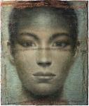 Mächenbildnis, 2012, Öl, Wasserfarben auf Papierhybrid, auf Leinwand, 218x182 cm