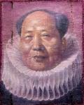Herr Mao 1, 182 x 146cm, 2012, Öl, Wasserfarben auf Papierhybrid, auf Holz