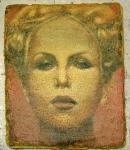 o.T. 61 x 48 cm, 2012, Öl, Wasserfarben auf Papierhybrid, auf Holz