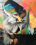 Abstract Treat, 200 x 160 cm,  Öl, Mischtechnik auf Leinen, 2020