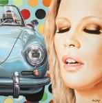 Closed eyes, 2016,Öl auf Leinwand, 100x100 cm