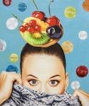 Delicious Fruits 2017, Öl auf Leinwand, 120x100 cm