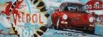 """""""Racing Le Mains IV"""" Öl, auf Leinwand + Photo, 2013, 21 x 60 cm"""