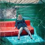 Cracked, 150 x 150 cm, Öl auf Leinen, 2019