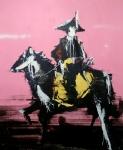 Pink Raider , 250 x 200 cm, Acryl/Lack auf Leinwand, 2019