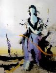 Violet-Girl 3, 200 x 165 cm,  Acryl/Lack auf Leinwand, 2019