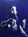 Blue Pope, 200x160 cm, Acryl, Lack auf Leinwand, 2017