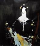 """Ingres portrait II"", 105 x 95 cm, 2016, Acryl/Lack auf Leinwand"