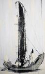 """Boatpeople"" 320 x 200 cm, 2018, Acryl/Lack auf Leinwand"