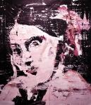 """""""Big red woman"""" 230 x 200 cm, 2017, Acryl/Lack auf Leinwand"""