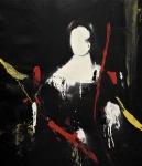 """Red beauty"" 105 x 95 cm, 2018, Acryl/Lack auf Leinwand"