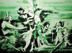 """""""Green Madonna"""" 200 x 270 cm, 2018, Acryl/Lack auf Leinwand"""