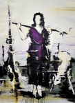 """Girl from the north"" 200 x 150 cm, 2018, Acryl/Lack auf Leinwand"