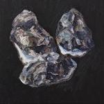 Austern- 25 XII,  Öl auf Leinwand. 70 x 70 cm, 2018