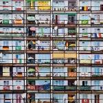 Sozialpalast (WM 2006), 200 x 200 cm, Öl auf Leinwand, 2016