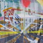 Transit, 2012, Acryl_Öl auf Cotton, 60x60cm