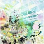 Metaphase, 2014, Acryl, Öl auf Cotton, 150x150cm