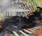 Patio, 2012, Acryl, Öl auf Cotton, 60x70cm